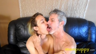 Grey-Haired Man Makes Out with Young Lad