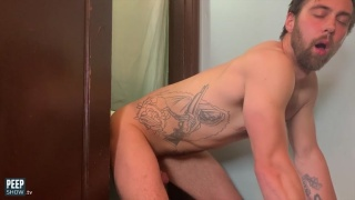 Home Video of Guy Getting Fucked Through Glory Hole