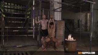 Master Splashes Twink Slave Boy with Hot Molten Wax