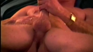 Handsome mature guy plays with his dick