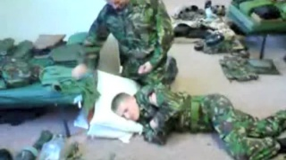 Soldiers in Hazing Ritual