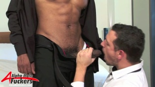 Leo buries his huge cock deep inside Enzo black ass