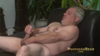 Mature straight guy plays with cock