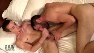 scruffy-faced man loves sucking dick