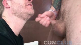 furry stud drains his nuts for cocksucker