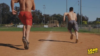 baseball player gets his hot ass fucked by muscle hunk