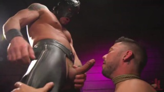 new boy trained in a dungeon equipped with a coffin