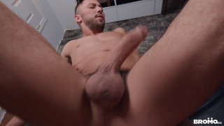 guy with cummy ass waits for another load from his top