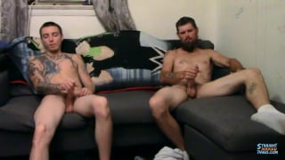 str8 guys watching porn and playing with their cocks