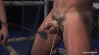 Biker fucks slave in leather