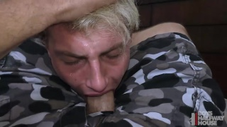 """""""I pulled out my cock and he was on it lickity split."""""""