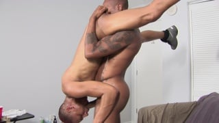 two ebony studs do a standing 69 suck
