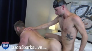 ginger muscle hunk gets fucked by guy in baseball cap