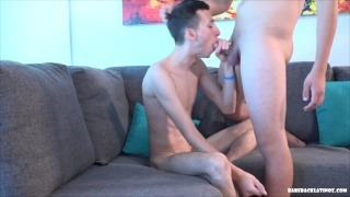 Guy Gives Buddy Blowjob Before Hopping on his Cock