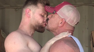daddy's making out in storage container