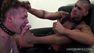 master spits on & humiliates his slave boy