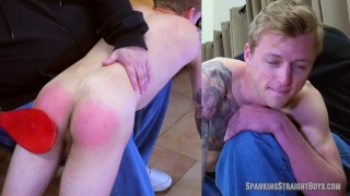 Blond Lad Gets Spanked with Ping Pong Paddle
