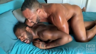 Bottom Struggles with this Big Black Cock in His Ass