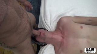 Hunk Loves Throat Fucking a Cocksucker