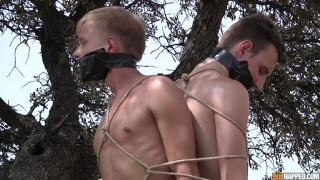 Slave Boy Gets his Big Cock Owned
