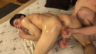 Ass Up & Oiled Up, Czech Stud Gets His Hole Fingered