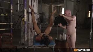 Chav Ropes Naked Boy Down & Edges His Cock