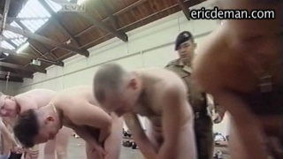 Army recruits strip naked and forced nudidy