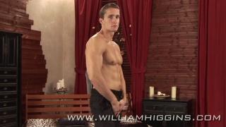Muscular Czech model strips naked