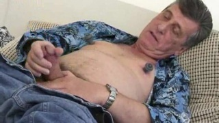 mature daddy jerking his meat