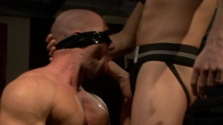 Blindfolded for anonymous hookup