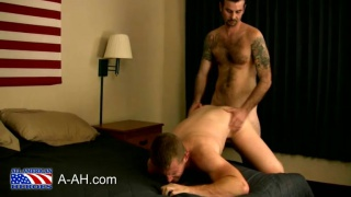 Marine stick his dick in a nice tight asshole