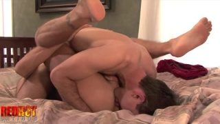Hot latin men making passionate love