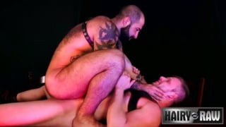 inked daddy gets ass fucked by hairy ginger stud