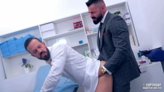bearded brazlian stud gets his ass fucked by his sexy doctor