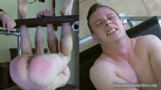 naked guy hung upside down and spanked