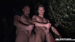 guy heads into the woods to meet up with a sexy coach