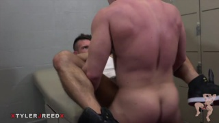 bottom takes massive muscle man's big curved cock