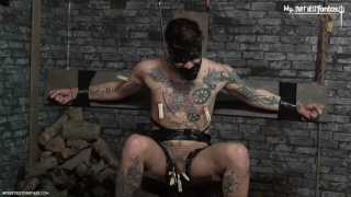 spanish master torments his heavily-inked slave boy