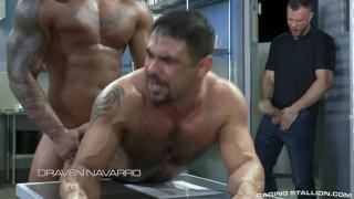 Handsome Ebony Hunk Fucks a Hairy Muscle Hunk's Ass