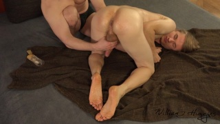 blond guy gets his ass greased & fingered