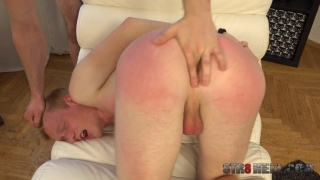Blond Czech Lad Gets Ass Spanked & Fingered