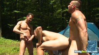 Hung Man Gets Straight Campers Revved Up with his Ten Inches
