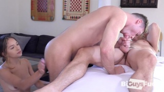 Bisexual Couple Invite their Masseur Over for a Threeway