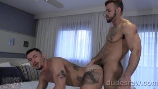 Latin Muscle Stud Barebacks Brazilian Buddy's Cum-Hungry Hole