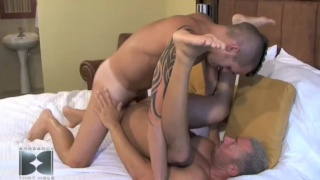 Dominik slobbering and slurping on thick cut man meat