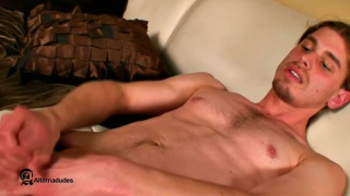 Long Haired naked dude jacking off