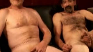Hot working men jerk off together