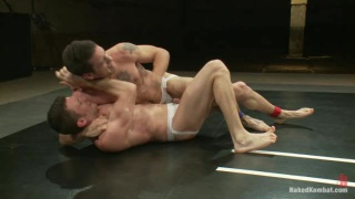 Guys in Jockstraps Wrestling on Mats