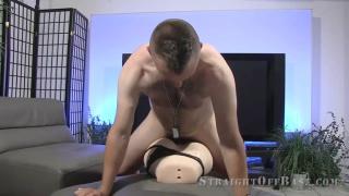 hairy marine fucks a sex toy