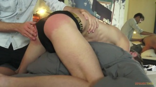 blond twink gets his ass walloped for bad housekeeping